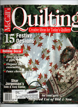 Dec 2000/McCall's Quilting/Preowned Craft Magazine - $3.99