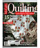 Dec 2000/McCall's Quilting/Preowned Craft Magazine - $3.99