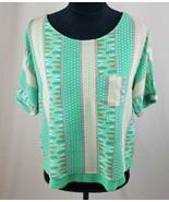 Blumenwiese Rue Anthropologie Damen XS Zane Minzgrün Lagig T-Shirt - $17.95