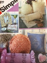 Simplicity Sewing Pattern 6176 Candlewicking  Embroidery Pillows Picture... - $9.85