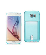 REIKO SAMSUNG GALAXY S6REIKO SEMI CLEAR CASE WITH CARD HOLDER IN CLEAR B... - $7.96
