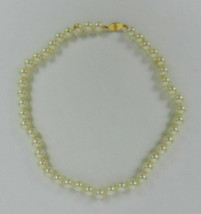 Monet Necklace Faux Pearl Knotted Beads With Gold Clasp Short Strand 16.... - $59.39