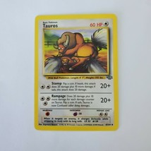 Pokemon Jungle Tauros LP 47/64 TCG Trading Card Game 1999 Unlimited - $0.99