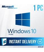 Microsoft Windows 10 HOME - Full Retail 32-Bit and 64-Bit Digital US - W... - $27.99