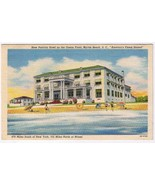 South Carolina Postcard Myrtle Beach New Patricia Hotel On The Ocean Front - $2.84