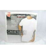 Kirkland Signature Men's White T Shirts Crew Neck 6 Pack  100% Cotton Sz... - $23.16