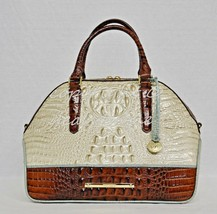 NWT Brahmin Hudson Satchel/Shoulder Bag in Linen Tri-Texture Beige, Peca... - $315.00