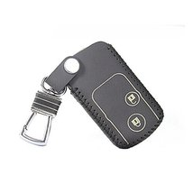 PANDA SUPERSTORE Genuine Leather Car Key Chain Smart Key Cover Case for Crosstou