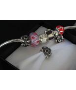 Authentic Sterling Silver 925 Flowers Charm Bead fit Pandora Bracelet 1pcs - $9.99