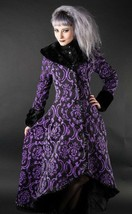 Women's Purple & Black Brocade Gothic Victorian Fall Winter Long Steampu... - $167.99