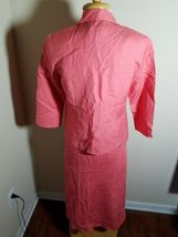 Talbots Petites Women's Dress Set Linen Blend Pink Sleeveless Maxi & Jacket 4 image 7