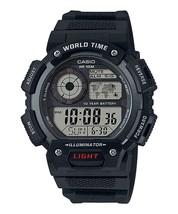 AE-1400WH-1AV Casio Men's World Time Black Resin Band 48mm Watch AE1400W... - $34.40
