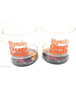 Kahula Creepy Keepers Plastic Cups On the Rocks Glasses Halloween Lot of 2 - $9.89