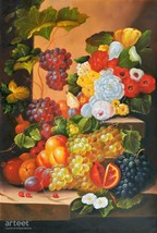 "Still Life With Fruit - Still life / Original Handmade Painting / 24""x 35"" - $175.00"