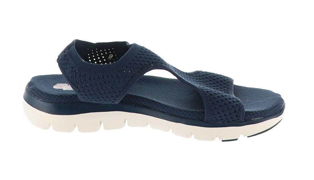 Skechers Knit Cutout Sport Sandals Deja Vu Navy 11M NEW A349857