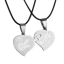 Couple Lovers Stainless Steel Love Heart Puzzle Necklaces & Pendants - $13.49