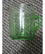 Hazel Atlas GREEN Depression Glass 3-spout MEASURING Cup, KELLOGG Logo o... - $62.00