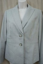 Evan Picone Blazer Sz 6 Khaki Beige Oxford Langärmlig Business Cocktail ... - $39.77