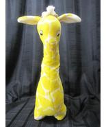 BIG VINTAGE EDEN GIRAFFE YELLOW WHITE PLUSH BABY NURSERY TOY DECORATION - $95.03
