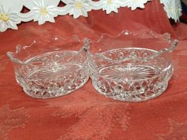 """PAIR OF CANDY DISH WIGGLY EDGE, CIRCLES AND STAR BOTTOM 4"""" X 2"""" image 4"""