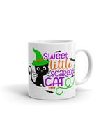 New Mug - Sweet little scaredy cat funny coffee Mug halloween coffee - $10.99+