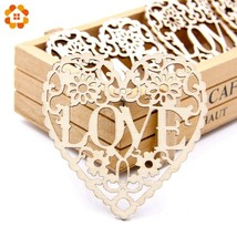 DIYHouse® 10PCS/Lot Wooden Hollow Love Carved Flower Christmas Pendants ... - $4.62+