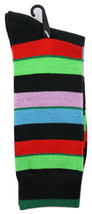 Goldstar Mens Striped Socks Casual Fun Color Combo 2 Cotton Blend Crew Sock - $12.95