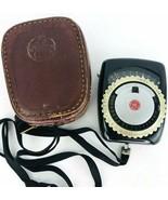 Exposure Meter Vintage GE General Electric Type PR1  Light Meter Case Un... - $16.82