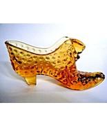 Fenton Hobnail Cat Head Shoe Slipper Boot Colonial Amber 70's - $14.80