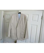 Lee Newman , Men's Sport Jacket , 100% Cotton , XL , Tan/Yellow , Vintage - $94.05