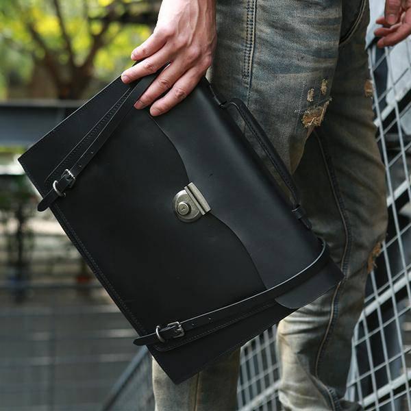 Sale, Handmade Men Tote Bag, Full Grain Leather Men Briefcase, Vintage Shoulder  image 3