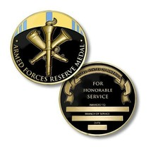 """ARMED FORCES RESERVE MEDAL 1.75"""" CHALLENGE COIN - $18.99"""