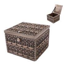 Egyptian Square Artifact Symbols Jewelry Box Figurine Made of Polyresin - $33.65