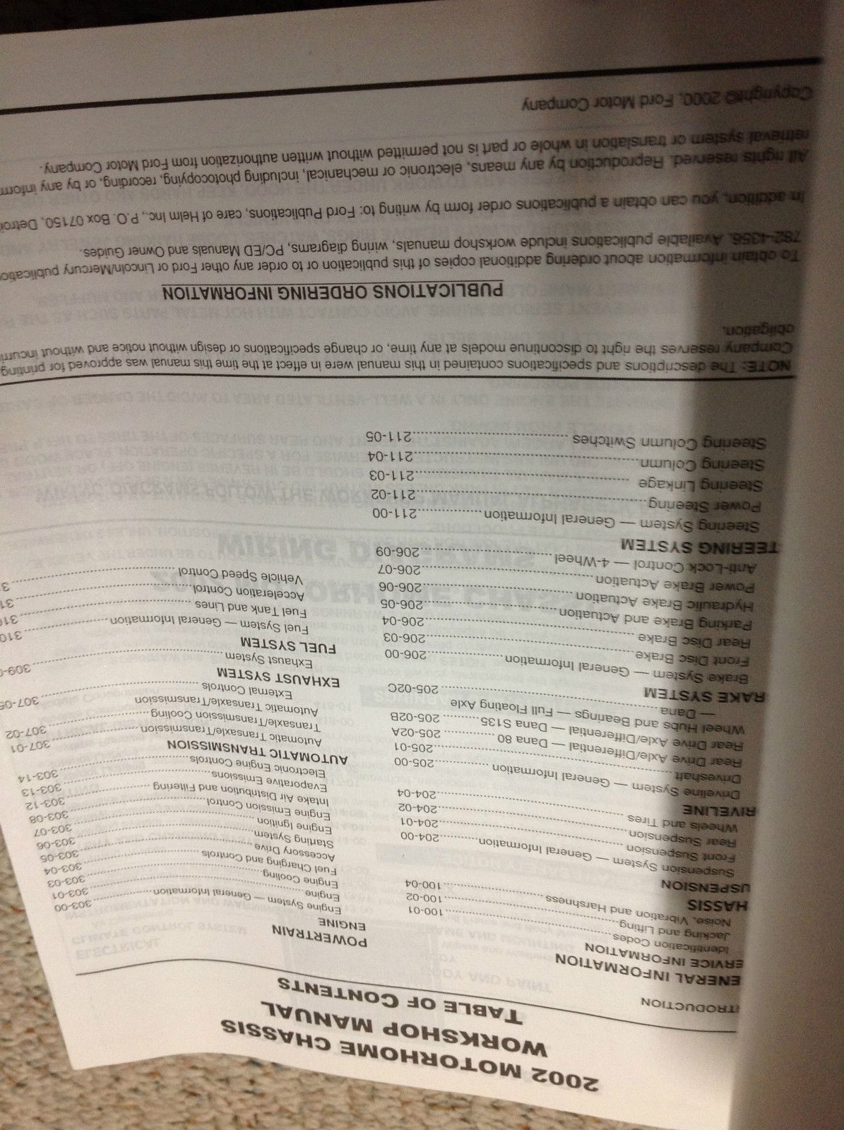 ... 2002 Ford F-53 F53 Motorhome Chassis Service Repair Shop Manual W  Wiring Diagram ...