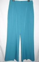 Wide legs dress pants sz. 12 tall NWOT New teal... - $24.74