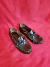 Minnetonka Women's Straight Plug Leather Driving Moccasins Size 7.5 - $49.49