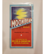 Vintage Moonbeam Brand Crate Label, Nelson and Co., Oviedo California - $6.79