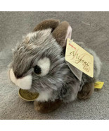"Aurora World Miyoni Tots Baby Bunny Plush, Grey White 6"" NWT - $12.99"
