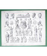 NUDE Greek Sculpture Art Venus Mars Pallas Gonzaga Cameo - SUPERB Antique - $11.14