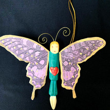 Butterfly Hand Made Hand Painted Butterfly Ornament - $18.32