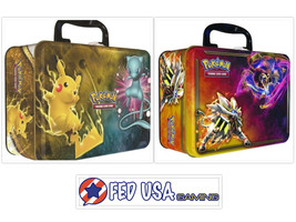 Pokémon TCG Shining Legends Collectors Chest + 2017 Spring Chest Lunchbo... - $54.99