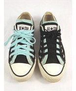 Converse All Star Women's 7M Low Double Tongue Sneakers Black / Teal - N... - $19.99