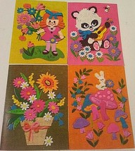 Vintage Quality Crest Greeting Cards Happy Birthday Get Well 6x8 Lot of 4 - $9.90