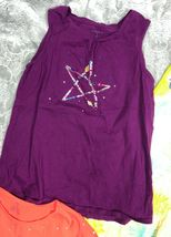 LANDS END KIDS Summer Tops Lot Sleeveless Tank Dress T-Shirt Girl's Size 14  image 5