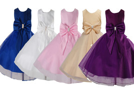 Flower Girl Party Dress Bridesmaid Wedding Pageant dress 18 Months to 8 ... - $20.30+