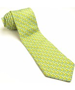 NEW TED BAKER 58L Olive Green Blue Geometric Woven Silk Mens Neck Tie - $89.10