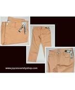 Women's Ankle Pants Cropped Coral Denim Sz 18 Time & Tru NWT - $18.99