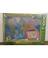 1000 pcs Puzzle Eurographics Map Of The World w/ Bonus 100 pcs Puzzle & ... - $9.79