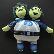 "Miles From Tomorrowland 14"" Watson & Crick Plush Toy Disney Store Two Head Alien - $10.88"