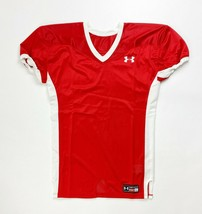 Under Armour Game Stock Hammer Football Jersey Youth Boy's XL Red White - $14.99